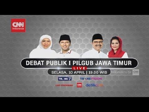 FULL! Debat Publik 1 Pilgub Jatim 2018 ; Khofifah-Emil & Gus Ipul-Puti
