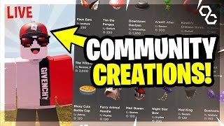 🔴 Ugc Is Finally Here  New Community Created Hats  Roblox Livestream 🔴
