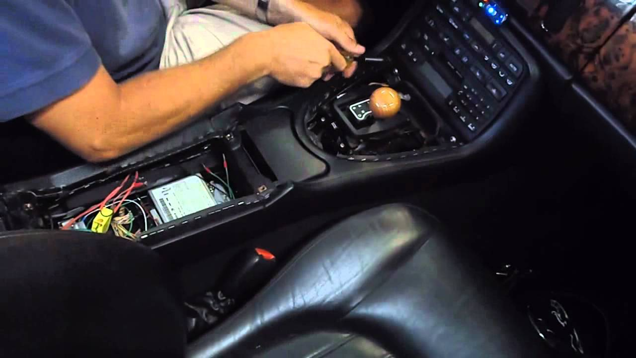 jaguar xk center console removal