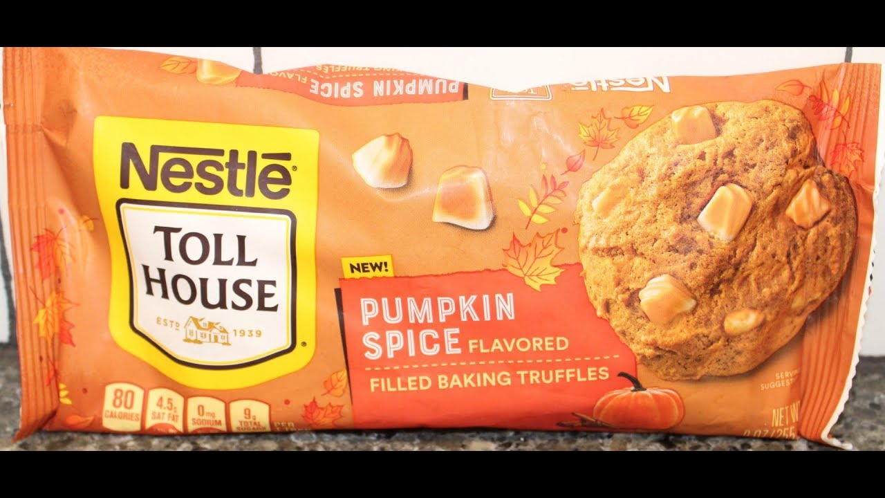 Making Nestle Toll House Pumpkin Spice Truffle Cookies