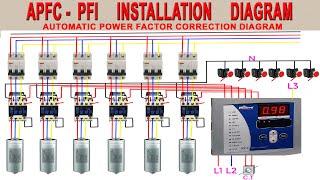 PFI Panel Board Wiring Diagram | Power Factor improvement diagram | PFI Circuit Diagram | APFC Fig