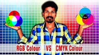 RGB vs CMYK color explain in Tamil | Valavan tutorials