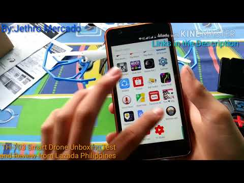 TH-703 Smart Drone Unboxing Test And Review From Lazada Philippines