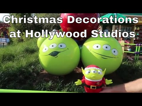 Christmas Decorations at Hollywood Studios