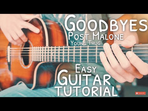 goodbyes-post-malone-young-thug-guitar-tutorial-//-goodbyes-guitar-//-guitar-lesson-#703