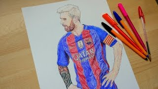 Messi Drawing - FC Barcelona