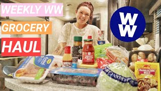 WEEKLY WW GROCERY HAUL FOR THE BLUE PLAN FROM TARGET!!