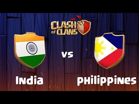 INDIA vs PHILIPPINES | LIVE CLAN WAR CLASH OF CLANS - COC