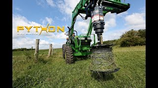 Video still for Best Way to Roll Up Fence Wire | Python Wire Winder :30