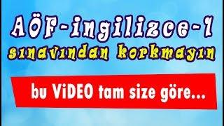 AÖF İngilizce-1  /  FİNAL için hızlı konu anlatımı. www.akademiaof.com