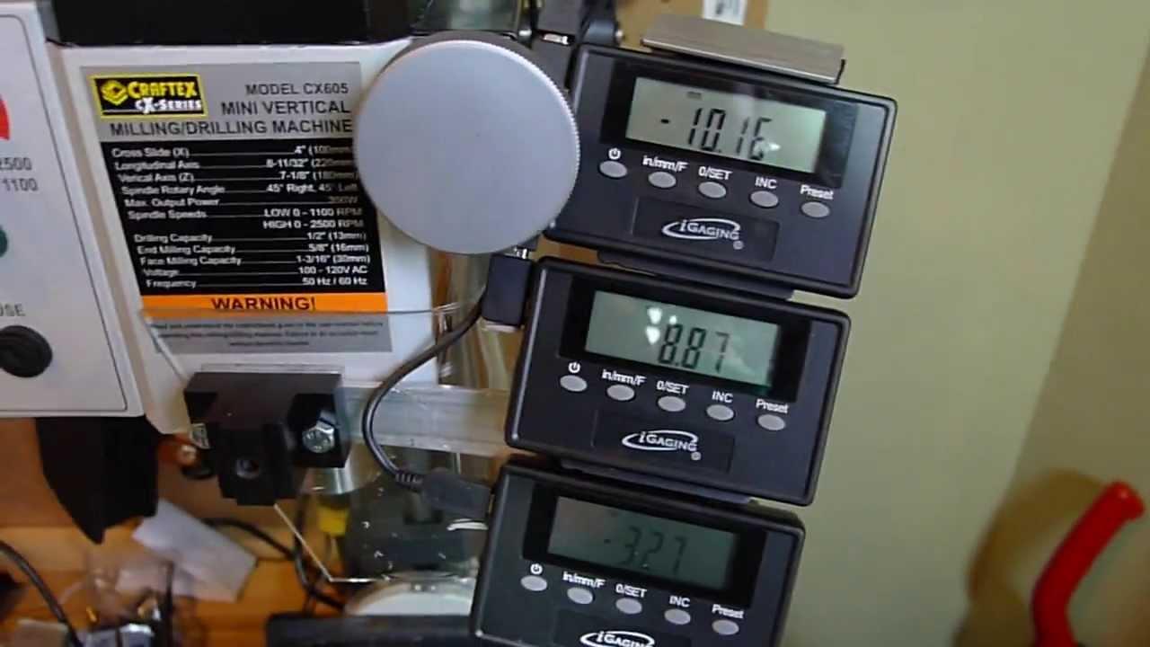 X2 Mini Mill Cx605 Cheap Digital Readout Igaging Dro