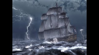 Подборка кораблей попавших в шторм в океане.