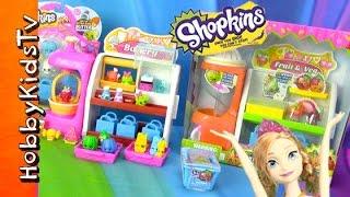 Shopkins Fruit + Veg Stand! Anna Makes Smoothies for Kristoff #HobbyKidsTV
