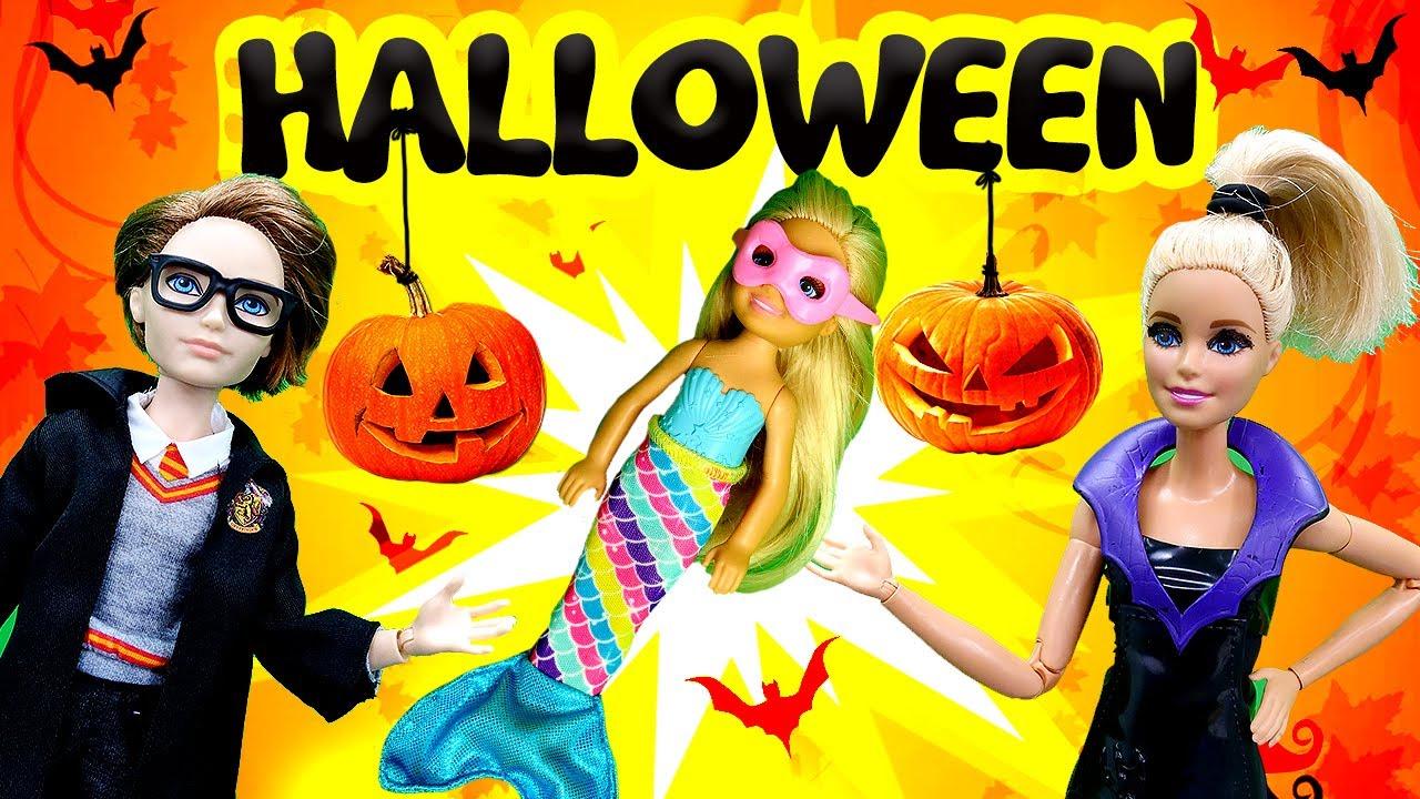 El disfraz de Halloween más ridículo de las muñecas Barbie. Juguetes para niñas en español