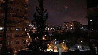U.S.-led airstrikes hit targets in Syria