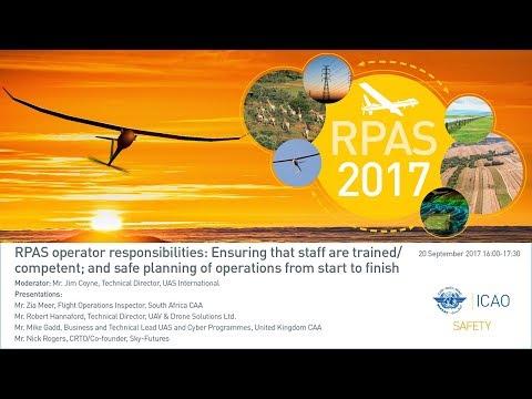 #icaoRPAS RPAS operator responsibilities