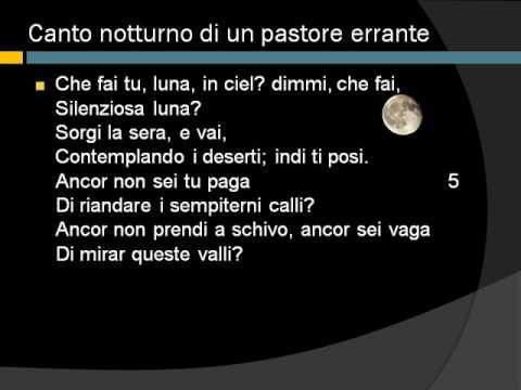 Canto notturno di un pastore errante, vv. 1-60