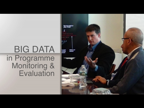 Webinar: Integrating Big Data into the Monitoring and Evaluation of Development Programmes