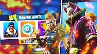 "WINNER 50,000 VBUCKS in ""ONLY SHOWDOWN""!? - Fortnite Battle Royale ITA - Season 5"