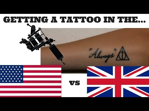 Getting A TATTOO In The UK!: TATTOOING In The UK Vs USA!