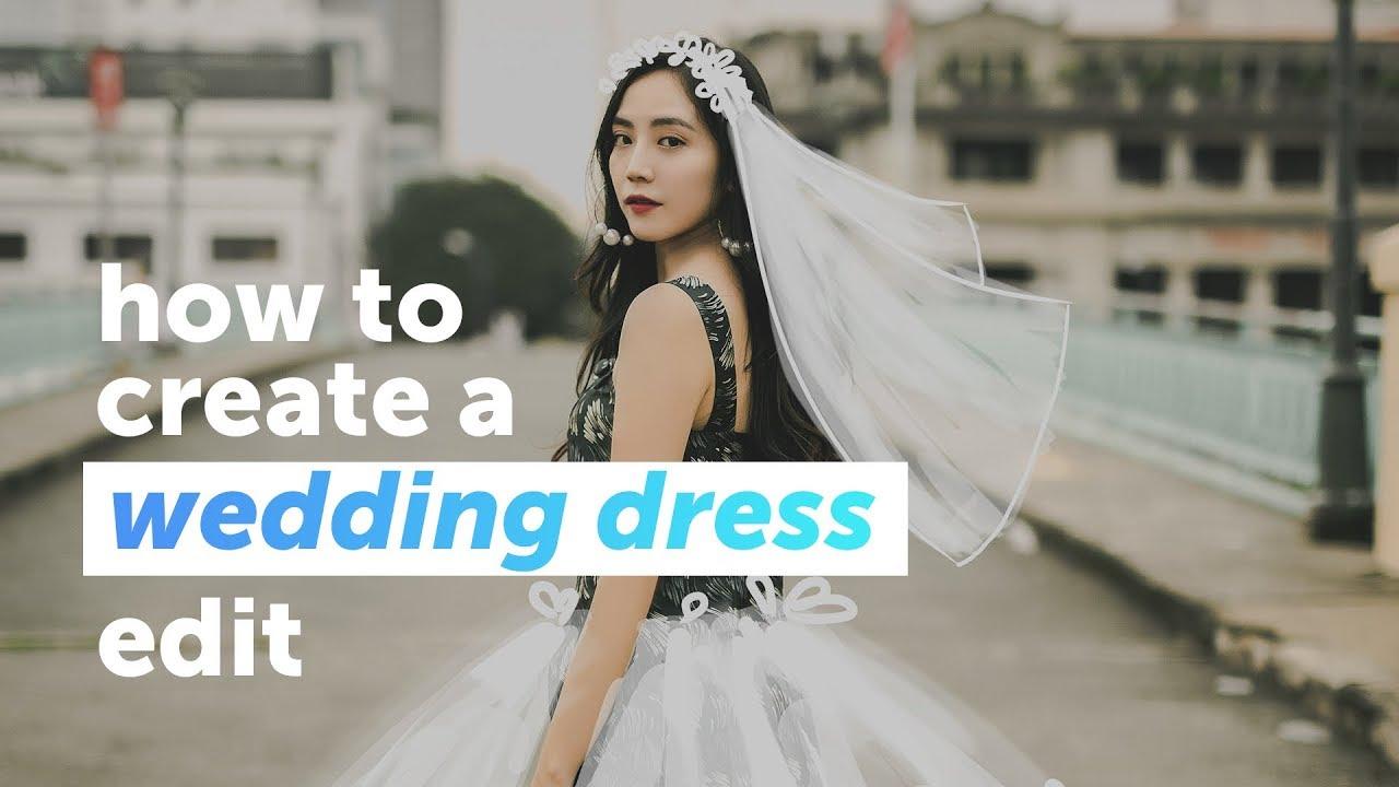 Wedding Dress Create.How To Create A Wedding Dress Edit Picsart Tutorial