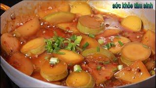 Bầu Kho Tiêu món ăn dân dã người ăn Chay ăn Mặn đều rất thích