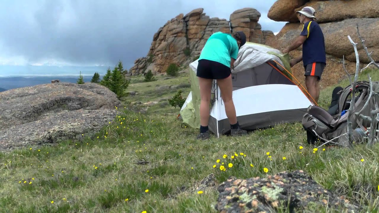 & Putting up the tent on Bison Peak Colorado. June 2014. - YouTube