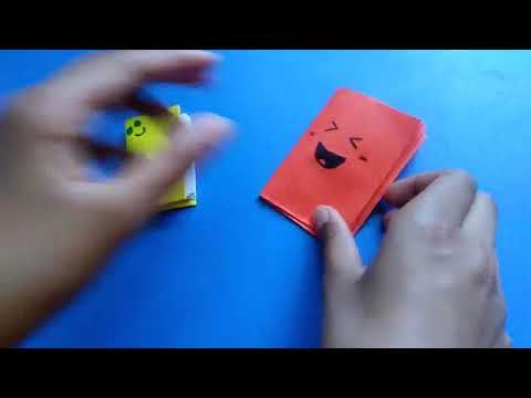 How to make mini DIY notebook_ Cute notebook with coloured paper.