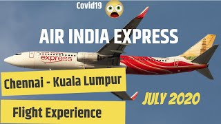 Air India Express Chennai to Kuala Lumpur COVID19 Flight Experience   MAA to KUL   Boeing 737-800