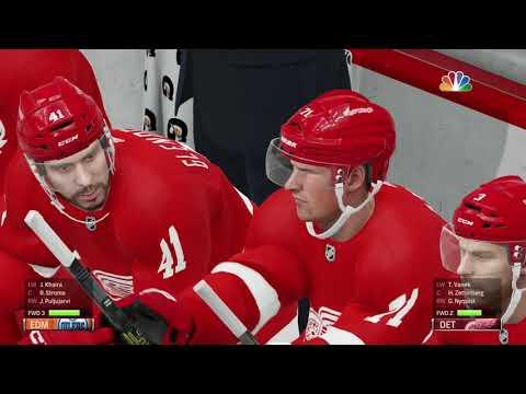 NHL 19 Gameplay 2018 2019 Oilers vs Red Wings