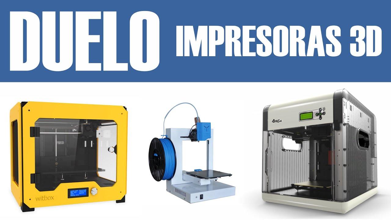 Impresoras 3d bq witbox vs 3d up plus2 vs da vinci 1 0 for Videos de impresoras 3d