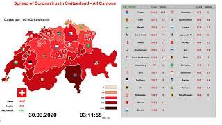 Schweiz Coronavirus Karte  Alle Kantone