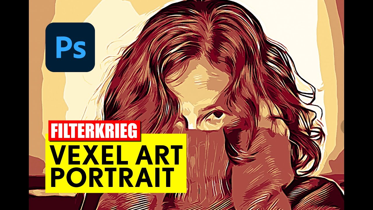 Photoshop: Vexel Art Portrait - Tutorial - deutsch