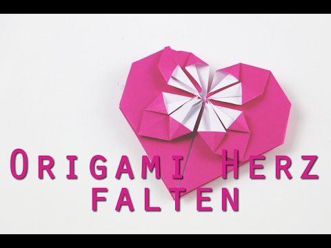 origami herz falten anleitung youtube. Black Bedroom Furniture Sets. Home Design Ideas