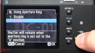How to use a manual lens (M, K, or M42) on a Pentax DSLR