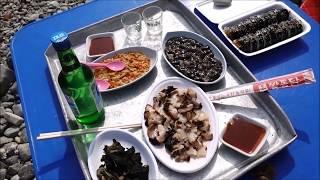 한국 거리 음식-부산 영도해녀촌/백종원 성게김밥 [맛있겠다] It looks delicious