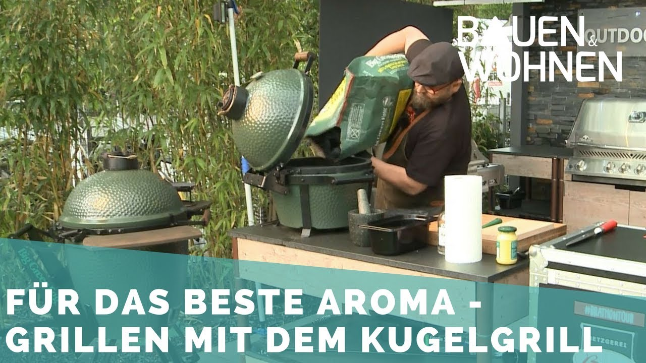 Outdoor Küche Kamado Joe : Grillen mit dem kamado grill youtube