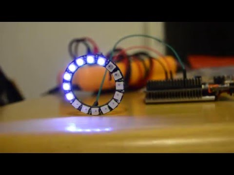 STM32 driving WS2812B or WS2812 LED ring - visual effects - YouTube