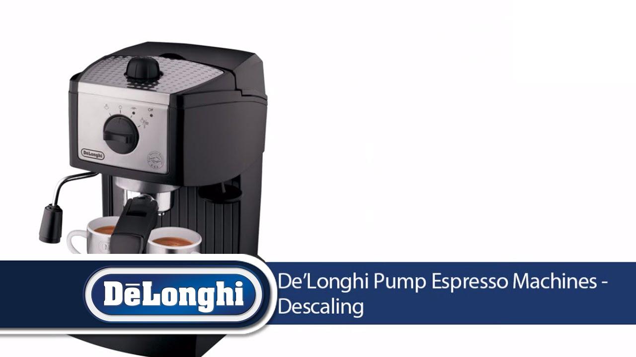 descaling an espresso machine