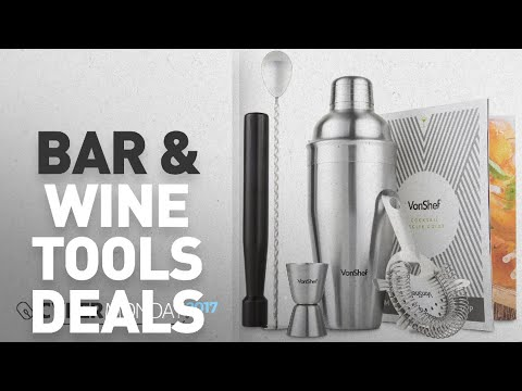 Top Cyber Monday Bar & Wine Tools Deals: VonShef Stainless Steel Manhattan Cocktail Shaker Set with
