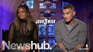 Halle Bery And Chad Stahelski Talk John Wick 3 | Newshub