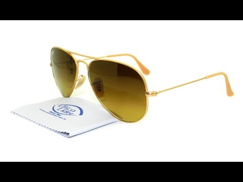 7d1671208822f Óculos de Sol Ray-Ban Aviador Marrom Degradê 3025 112 85 55 - YouTube
