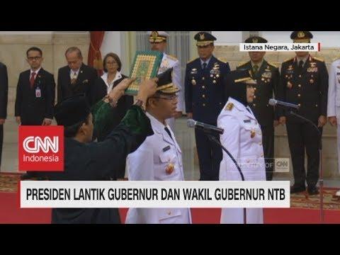 Presiden Lantik Gubernur & Wakil Gubernur NTB Di Istana