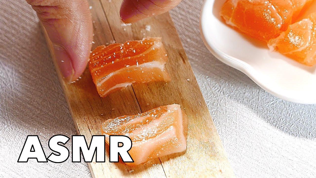 Pocket Cooking - Salmon Steak 4K Tiny Food Mini Food Salmão em ...