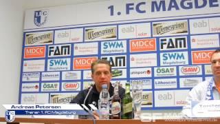 Pressekonferenz - 1. FC Magdeburg gegen FC Carl Zeiss Jena 2:1 (1:1) - www.sportfotos-md.de