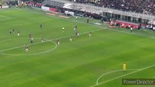 AC Milan 1:1 Hellas Verona - Second half match highlights,Curva Sud Milano supporting at home