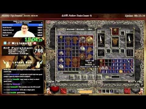 Diablo 2 - Hell Assassin speedrun WORLD RECORD - 7:27:22