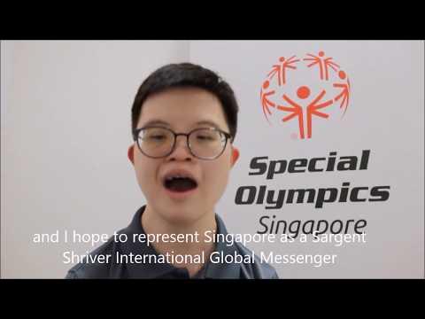 Athlete Leader Johannes Cheong application for Sargent Shriver International Global Messengers