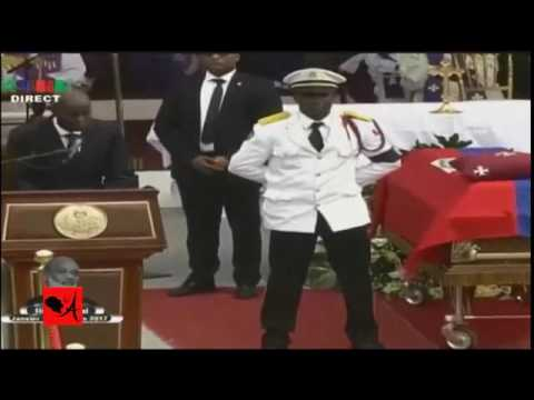 Diskou president jovenel moise pandan antèman president rené préval la