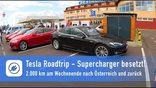 Tesla Alpen-Roadtrip - Schock: Supercharger komplett besetzt, Chaos in Hohenwarsleben